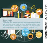 education icons objects layout... | Shutterstock .eps vector #276542444
