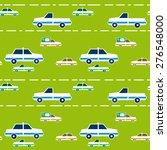 seamless pattern with cartoon... | Shutterstock . vector #276548000