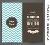 wedding invitation. vector... | Shutterstock .eps vector #276548420
