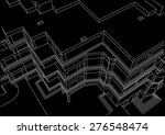 architectural linear sketch... | Shutterstock .eps vector #276548474