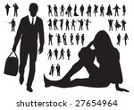 large collection of people... | Shutterstock .eps vector #27654964