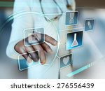 doctor interacting with a... | Shutterstock . vector #276556439