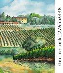 beautiful vineyards landscape.... | Shutterstock . vector #276556448
