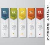 design clean number banners... | Shutterstock .eps vector #276556754
