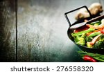 chinese cuisine. colorful stir... | Shutterstock . vector #276558320