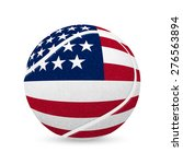 3d Tennis Balls With Us Flag...