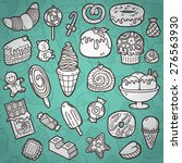 sweets set. vector set of... | Shutterstock .eps vector #276563930
