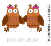 Happy Sister's Day Vector...