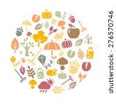 autumn background   autumn... | Shutterstock .eps vector #276570746