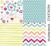 set of seamless patterns | Shutterstock .eps vector #276576254