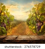 Vineyard Tabletop Design. Wine...