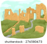 Illustration Of The Ruins Of A...