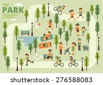 the park infographic elements | Shutterstock .eps vector #276588083