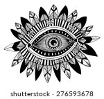 hand drawn indian aztec tribal...   Shutterstock .eps vector #276593678