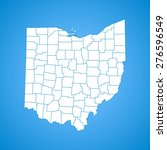 ohio map   Shutterstock .eps vector #276596549