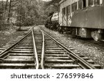 Vintage Railroad Tracks And...