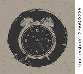 clock design on grunge... | Shutterstock .eps vector #276603239