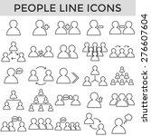 people business symbol line... | Shutterstock .eps vector #276607604