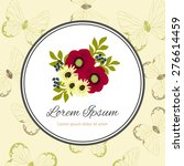 wedding invitation card with... | Shutterstock .eps vector #276614459