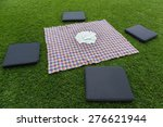 Small photo of cloth for a pic nic in spring time