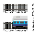 railway with train as a barcode ...   Shutterstock .eps vector #276622130