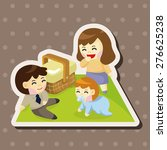 family   cartoon sticker icon | Shutterstock . vector #276625238