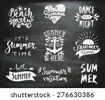 a set of chalkboard style...   Shutterstock .eps vector #276630386