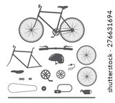bicycles  bike accessories icons | Shutterstock .eps vector #276631694