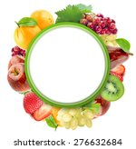 healthy organic vegetables and... | Shutterstock . vector #276632684