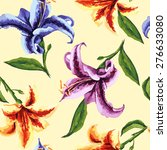seamless floral pattern.... | Shutterstock .eps vector #276633080
