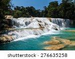 aqua azul waterfall  chiapas ... | Shutterstock . vector #276635258