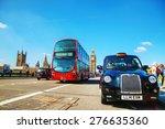 london   april 6  famous taxi... | Shutterstock . vector #276635360