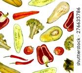 mix of vegetables  cucumber ...   Shutterstock . vector #276635786