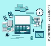creative process thin line art... | Shutterstock .eps vector #276636449