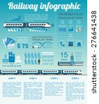 railway infographic. set... | Shutterstock .eps vector #276641438