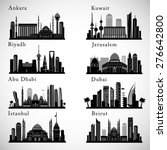 middle east cities skylines set.... | Shutterstock .eps vector #276642800