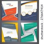 layout business  brochures ... | Shutterstock .eps vector #276647414