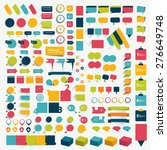 collections of infographics... | Shutterstock .eps vector #276649748