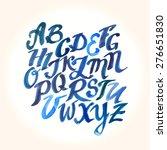 hand drawn watercolor alphabet...   Shutterstock .eps vector #276651830