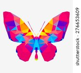 geometric butterfly with many... | Shutterstock .eps vector #276653609