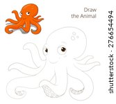 draw the fish animal octopus... | Shutterstock .eps vector #276654494