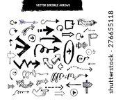 doodle scribble vector arrow... | Shutterstock .eps vector #276655118