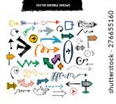 doodle scribble vector arrow... | Shutterstock .eps vector #276655160