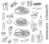 plate of food  vector... | Shutterstock .eps vector #276666299