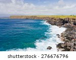 Rocky Coast Line Of Big Island...