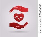 hand holding heart. | Shutterstock .eps vector #276686648