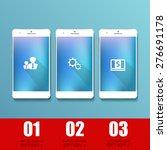 vector white realistic mobile... | Shutterstock .eps vector #276691178