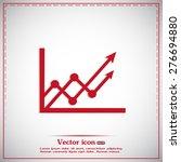 vector icon growth diagram