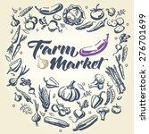 set of vegetables. hand drawn... | Shutterstock .eps vector #276701699