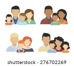 flat four various couples  with ... | Shutterstock . vector #276702269